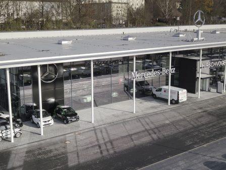 Mercedes Hirschvogel - Neubau Autohaus in Passau