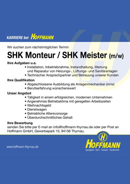 Hofmann_ Job SHK Monteur / SHK Meister